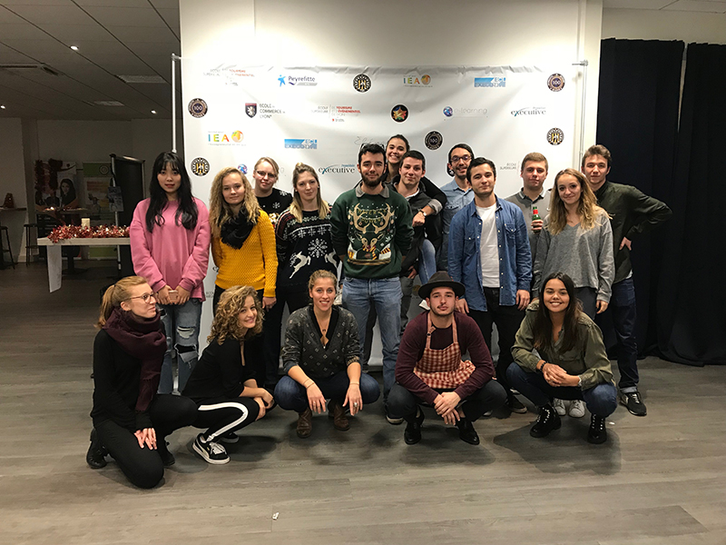 Noël 2017 avec étudiants Ecole de Commerce de Lyon