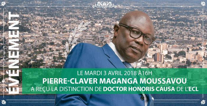 Pierre-Claver Manganga Moussavou maintenant Doctor Honoris Causa de l'ECL