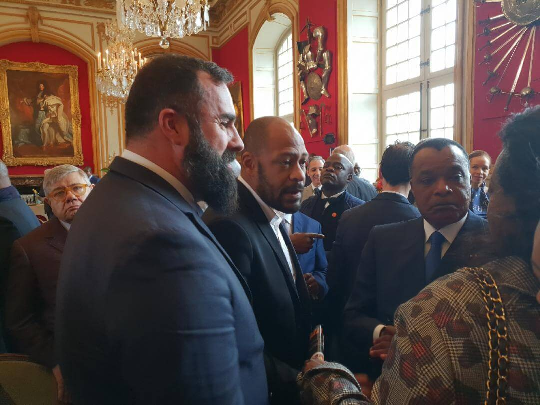 Hervé Diaz and Republic of Congo's president, Mr. Denis Sassous-Nguesso