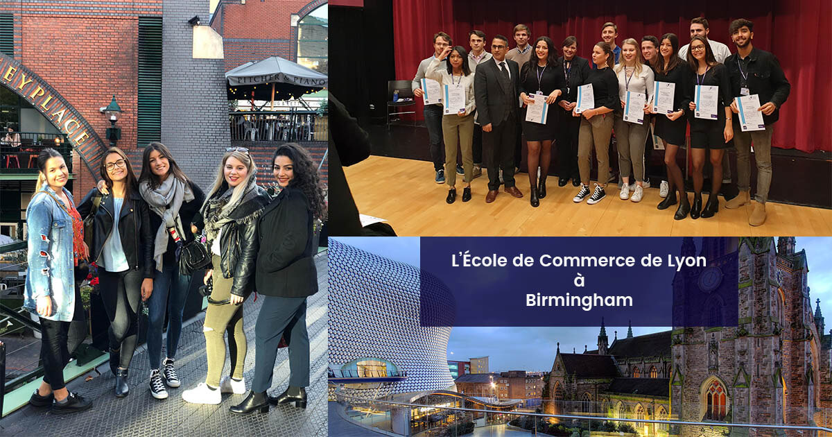 Les étudiants de l'École de Commerce de Lyon à Birmingham